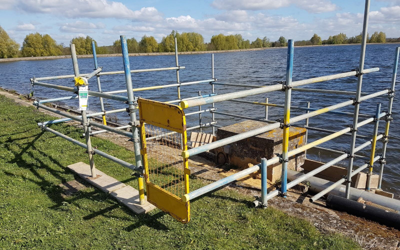 Brownes Scaffolding Barcombe WTW and reservoir