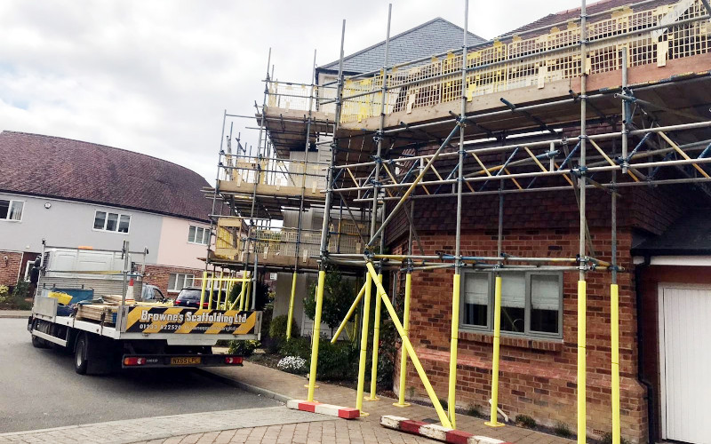 Brownes Scaffolding Residential Dwelling