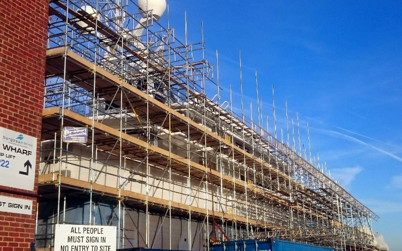 Brownes Scaffolding Super Yacht redecoration