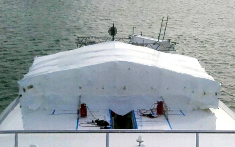Shrinkwrap Super Yacht Brownes Scaffolding